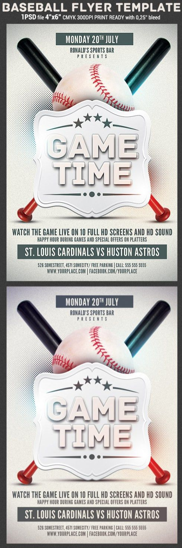 Baseball Game Flyer Template   flyerstemplates
