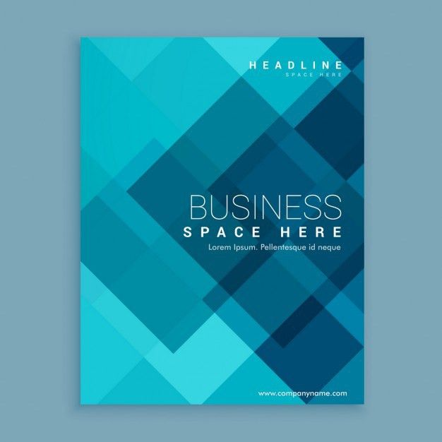 Blue business magazine cover template Vector | Free Download