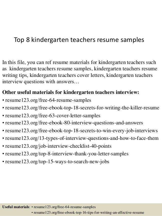 cover letter for kindergarten teacher professional kindergarten
