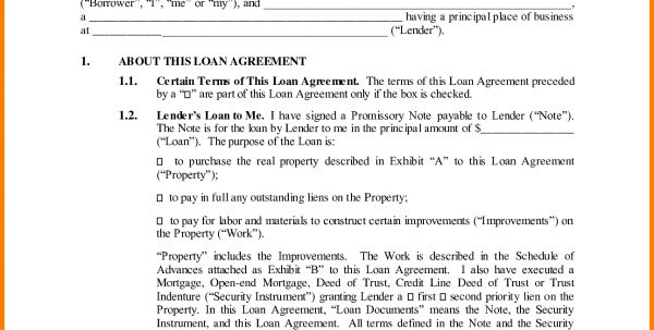 Sample Of A Business Agreement Between Two Parties Business Loan ...