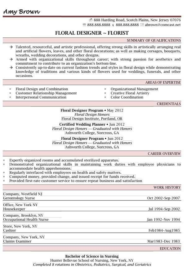 consulting services resume examples resume professional writers - Floral Assistant Sample Resume