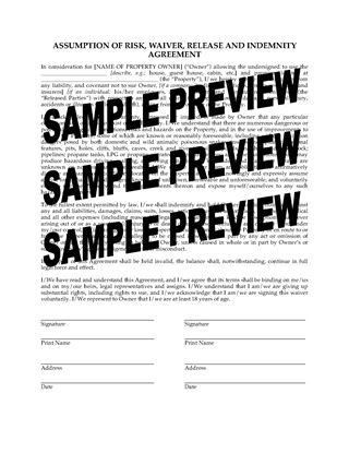 Release and Waiver Forms | Legal Forms and Business Templates ...