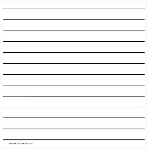 10+ Writing Paper Templates – Free Sample, Example, Format ...