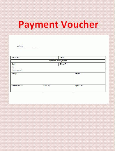 Payment Voucher Template | Formsword: Word Templates & Sample Forms