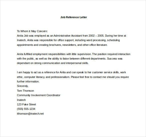 Reference Letter Template – 20+ Free Word, Excel, PDF Documents ...