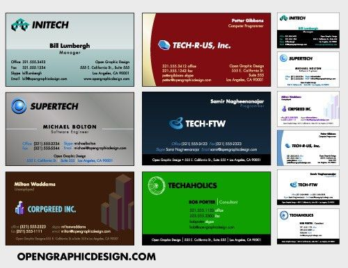 Download Free Business Card Templates and Business Card designs ...