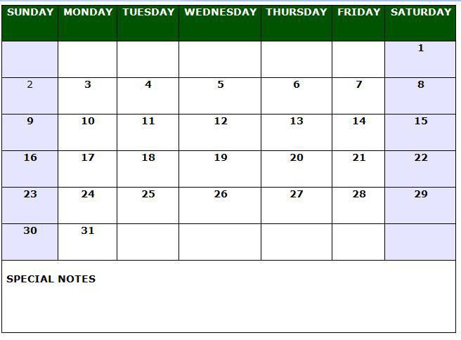Sample Calendar Template   Calendar Template