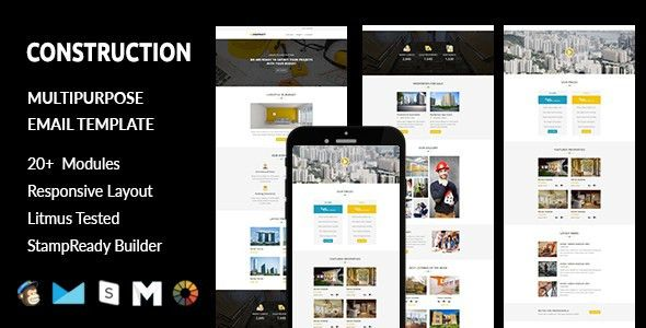 CONSTRUCTION - Responsive Email Template with Stampready Builder ...