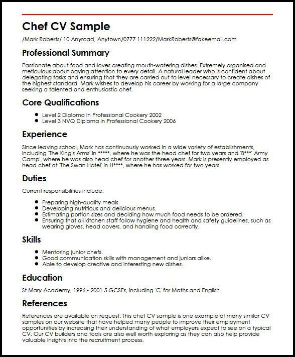 kitchen manager resume sample. job description of a cook in a ...