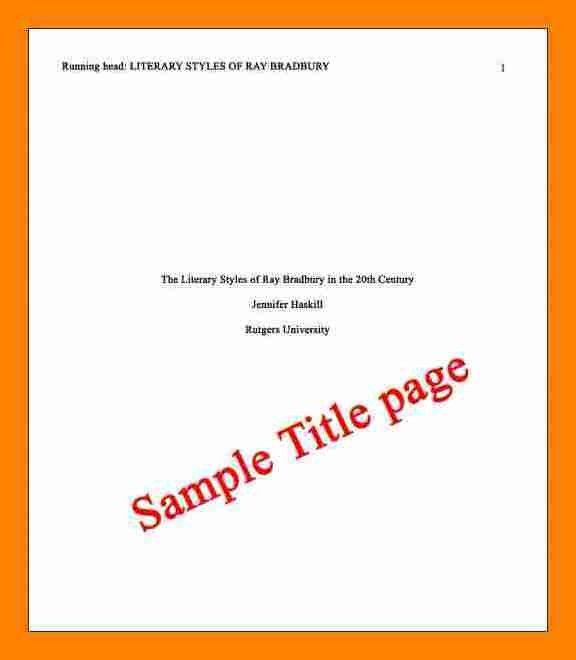 5+ apa example title page | resume sections