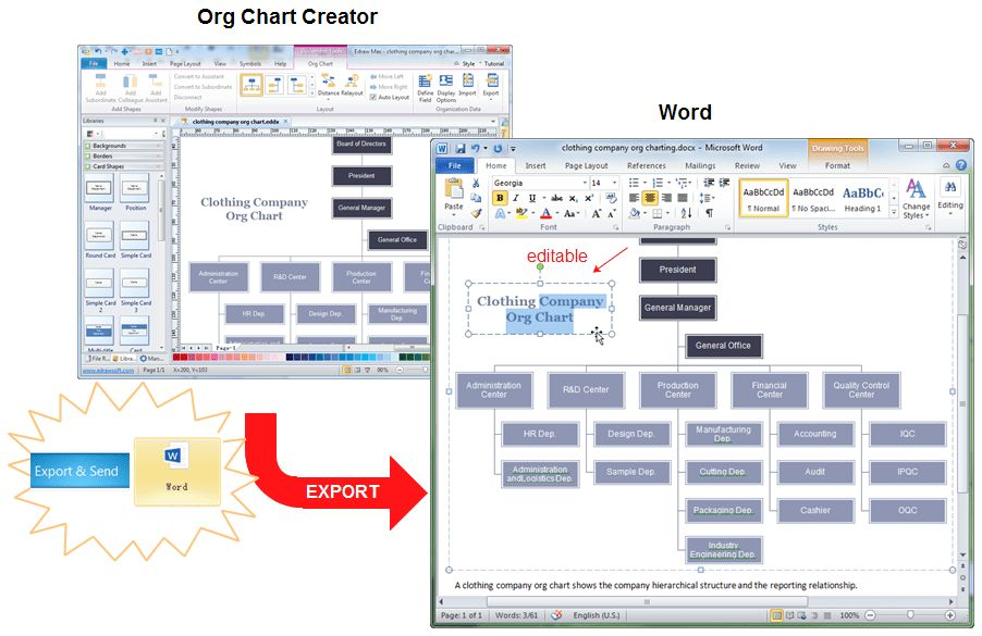 How to Make an Org Chart in Word Easily | Org Charting