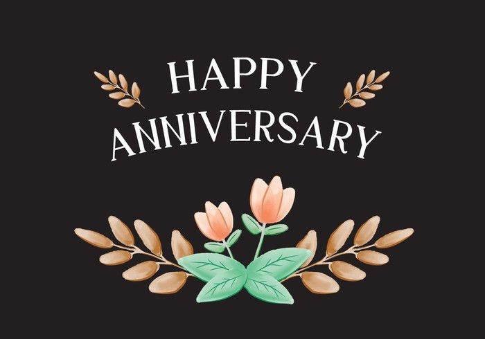 Peach Flower Anniversary Card - Download Free Vector Art, Stock ...