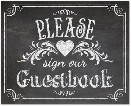 Wedding Signs Template, Vintage Chalkboard Guestbook Sign Template ...