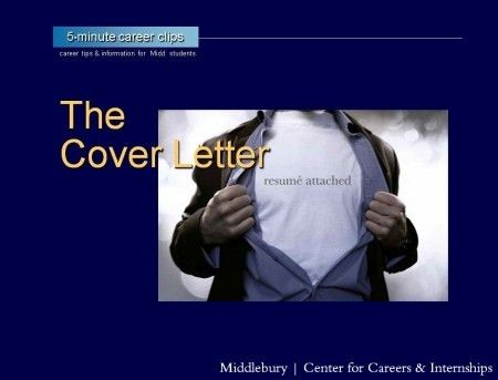 Resumes / Cover Letters | Middlebury