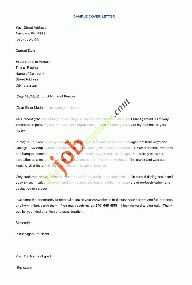 cover letter Cover Letter In Resume cover letter in a resume ...