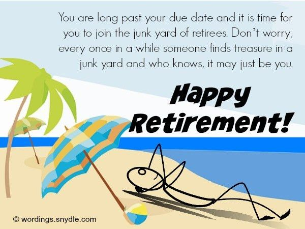 Funny Retirement Wishes and Messages - Wordings and Messages
