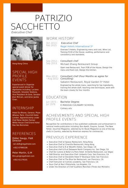 5+ chef resume sample pdf | catering resume
