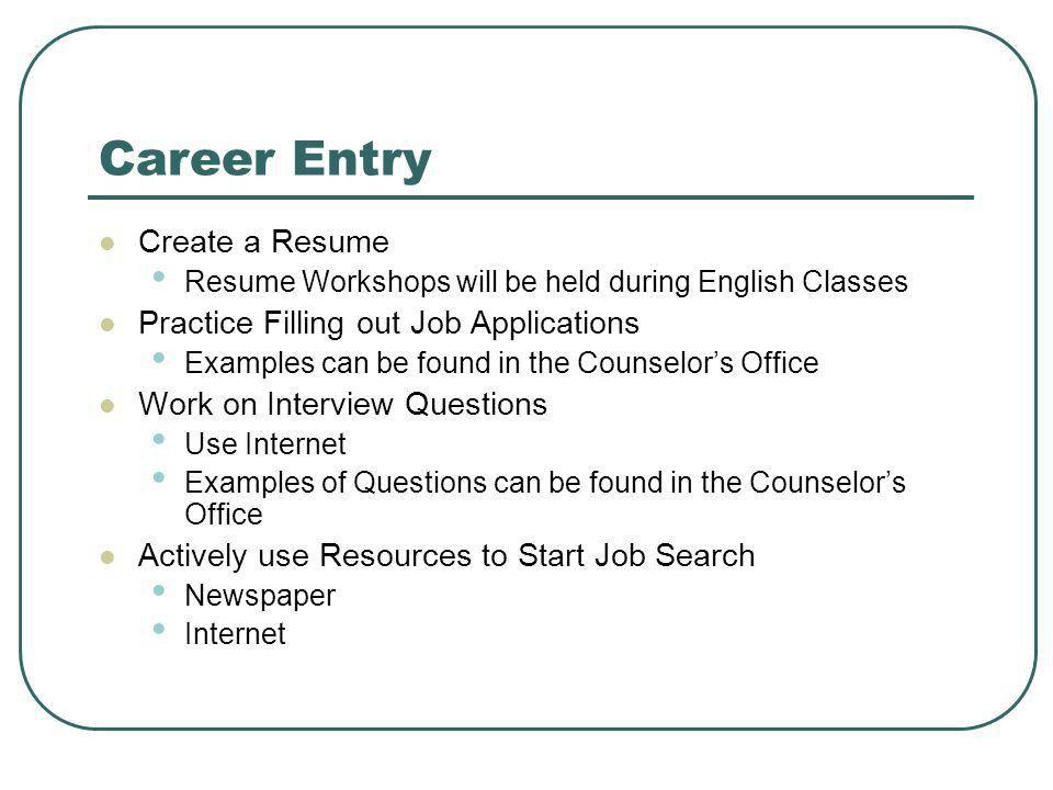Fill Out Job Resume - Contegri.com