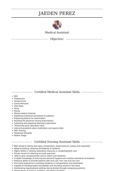 Cna Resume samples - VisualCV resume samples database