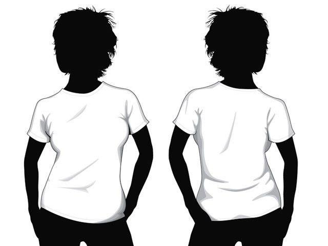 T-shirt template girl model   Free Download T Shirt Template