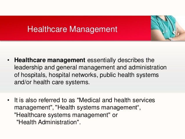 Contemporary issues in healthcare management