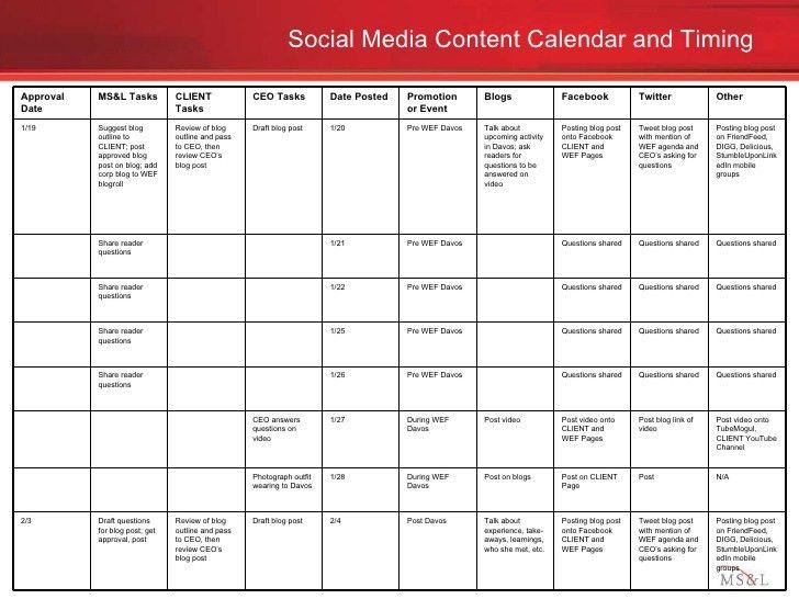 Social media engagement plan example