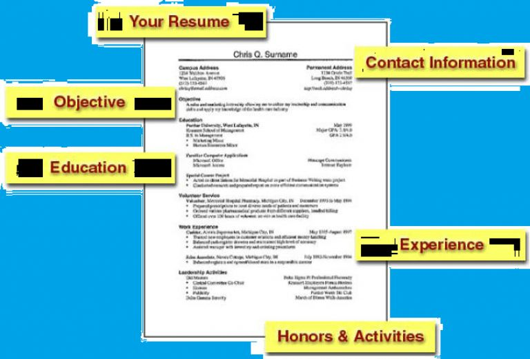 Resume Sample For Freshers Download - Templates