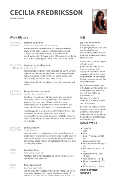 Design Engineer Resume samples - VisualCV resume samples database