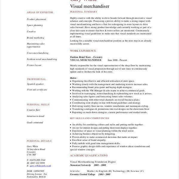 Merchandiser Resume Sample | Enwurf.csat.co