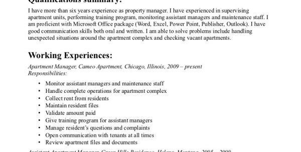Assistant Commercial Property Manager Resume Assistant Property ...