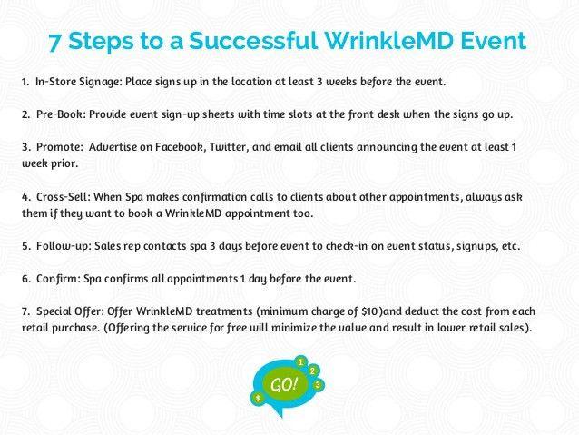 WrinkleMD Spa Event Guide