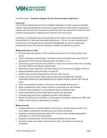 Network Engineer Job Description. Senior System Analyst Job .