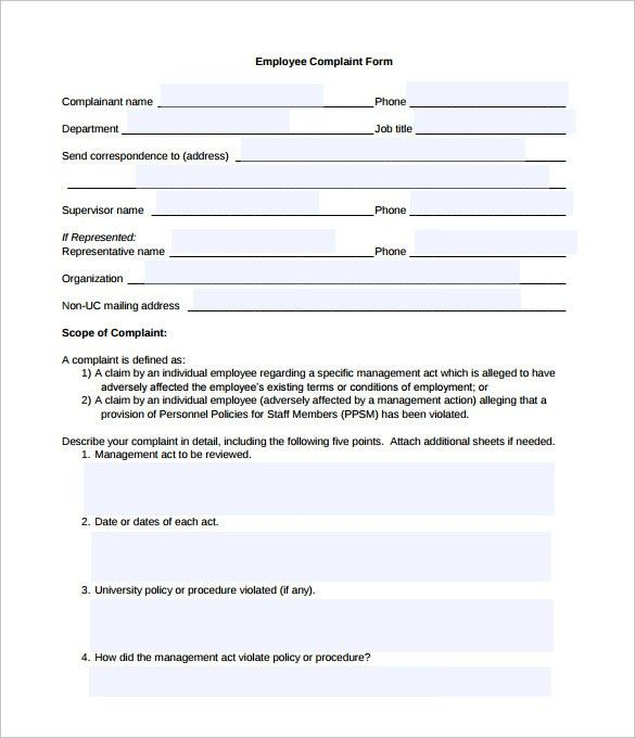 Sample Patient Complaint Form. Professional Outreach Toolkit ...