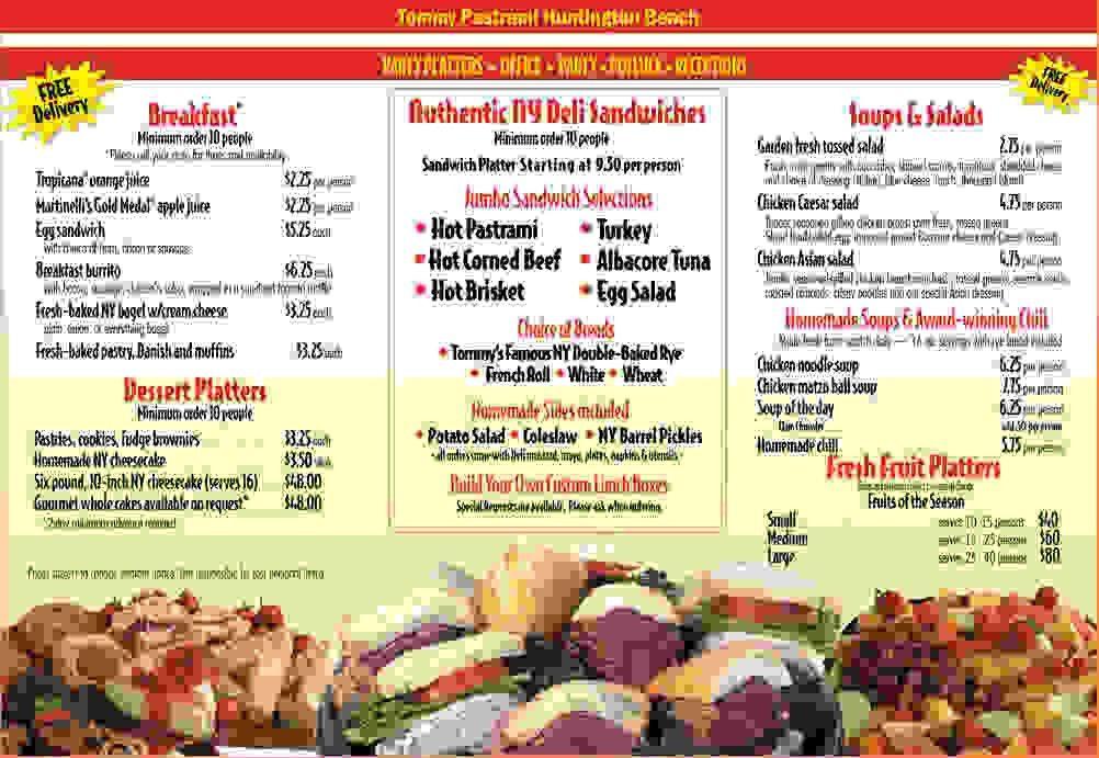 4+ catering menu template   Procedure Template Sample