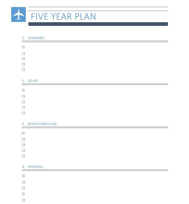 Five Year Plan   Beginnings in Biomedical Engineering