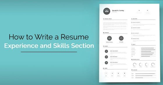 How to Write a Resume Skills and Experience Section? - WiseStep
