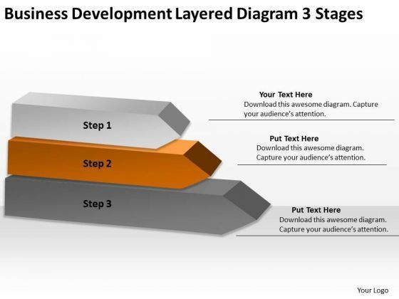 Business Development Layered Diagram 3 Stages Sales Plan Outline ...
