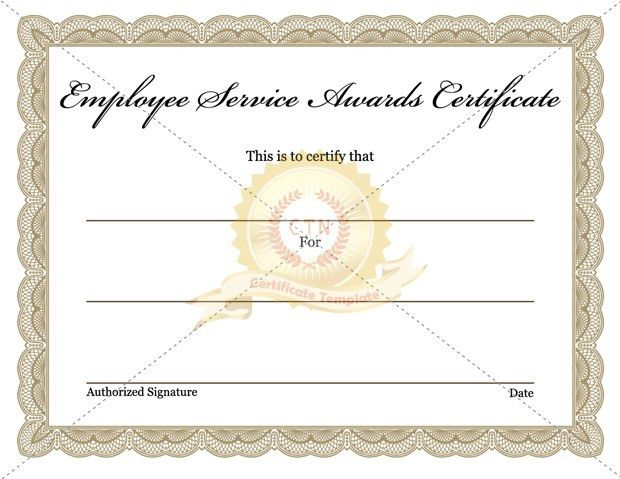 Employee Award Archives - Certificate Template