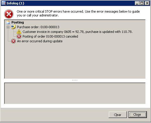 Inter-Company Receipt Error - Microsoft Dynamics AX Community Forum
