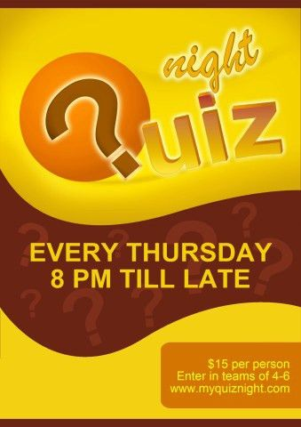 Quiz Night 2 poster template, How to print a Quiz Night 2 poster...
