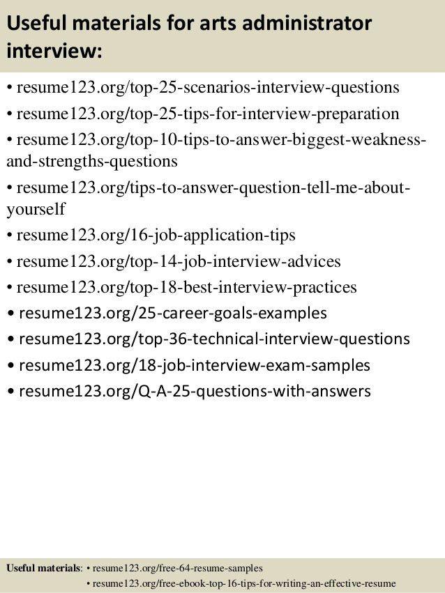 Download Art Administrator Sample Resume | haadyaooverbayresort.com
