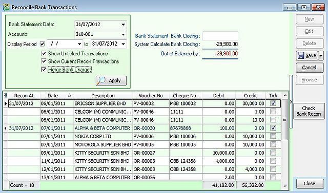 Bank Reconciliation - eStream Software