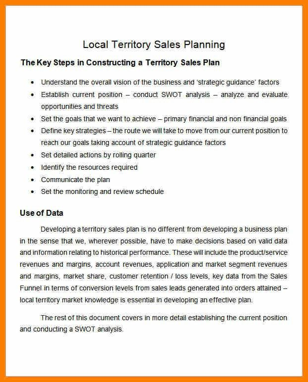 4+ sample territory sales plan | science-resume