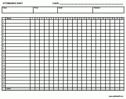 6 Free Attendance List Templates - Excel PDF Formats