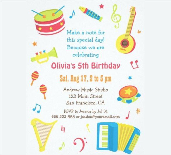 Birthday Invites: Charming Kids Birthday Party Invitations Design ...