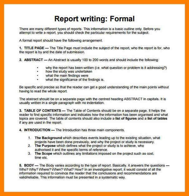 13+ report sample format | coaching-resume