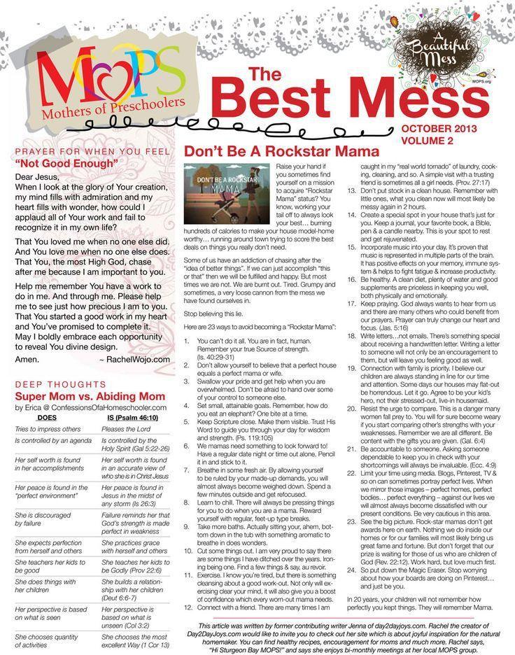 8 best MOPS Newsletter images on Pinterest | Catholic, Kid stuff ...
