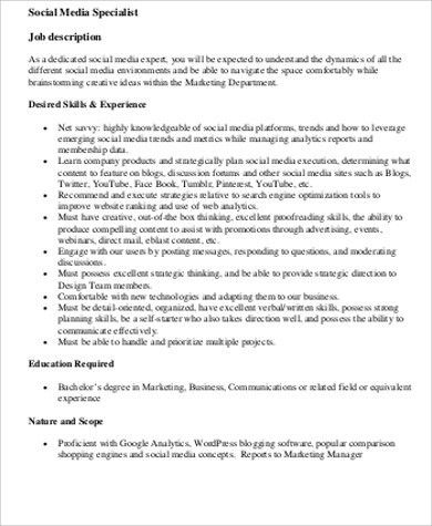 Media Planner Job Description. Digital Media Planner Resume ...