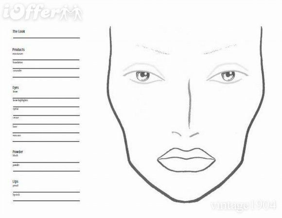Free Blank Face Charts For Makeup - Mugeek Vidalondon