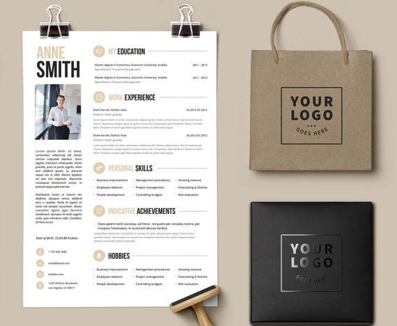 Creative Resume Microsoft Word Template Instant download - by ...
